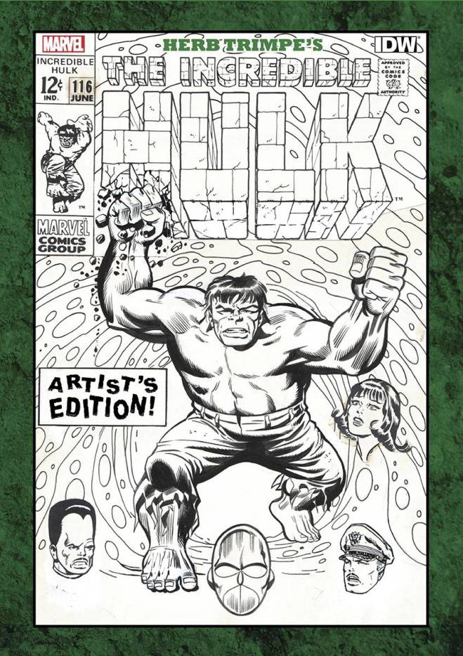 HERB TRIMPE INCREDIBLE HULK ARTIST ED HC