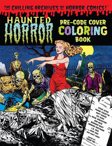 HAUNTED HORROR PRE-CODE COVER COLORING BOOK VOL 01