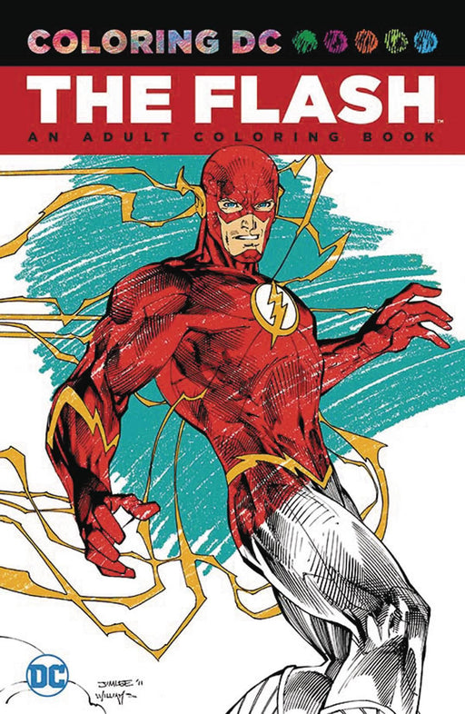 FLASH AN ADULT COLORING BOOK