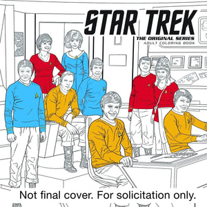 STAR TREK ORIGINAL SERIES ADULT COLORING BOOK TP VOL 01