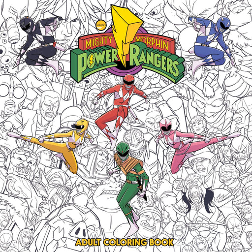 MIGHTY MORPHIN POWER RANGERS ADULT COLORING BOOK TP