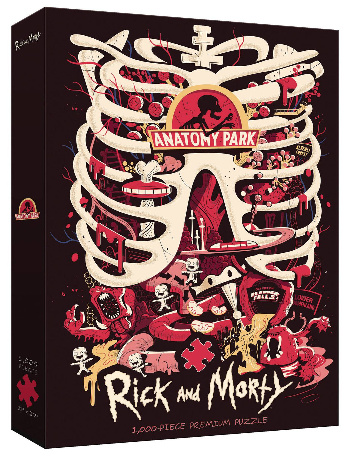 RICK AND MORTY ANATOMY PARK PUZZLE