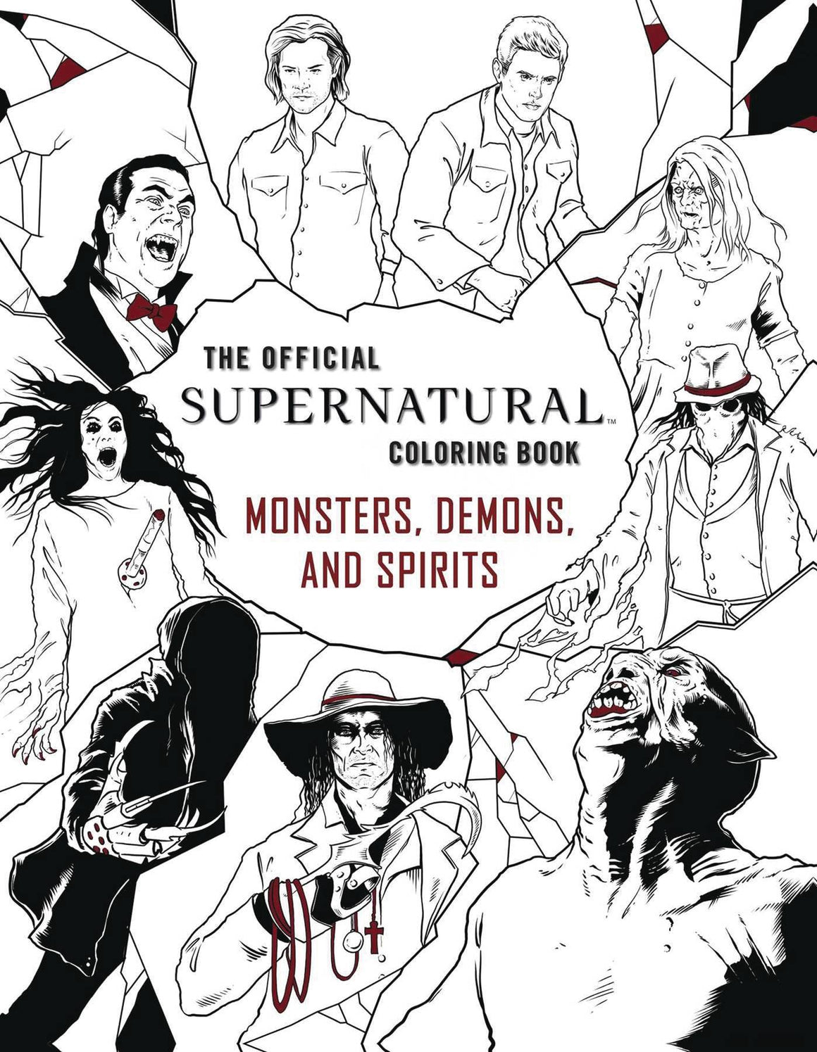 OFFICIAL SUPERNATURAL COLORING BOOK SC MONSTERS DEMONS SPIRITS