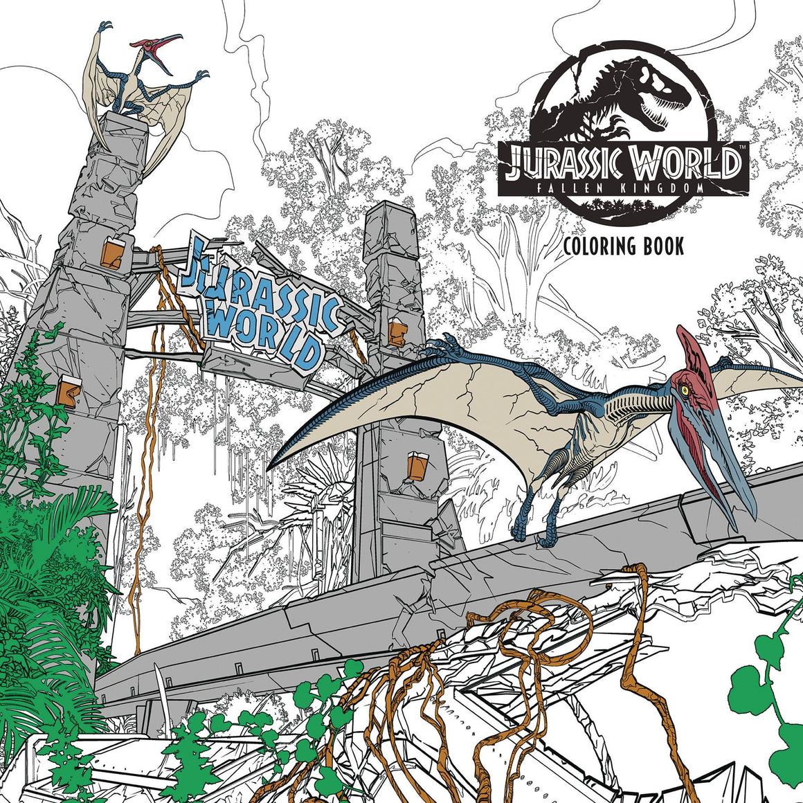 JURASSIC WORLD FALLEN KINGDOM COLORING BOOK TP
