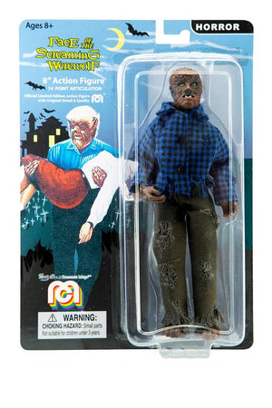 "The Face of the Screaming Werewolf Mego 8"" Action Figure"