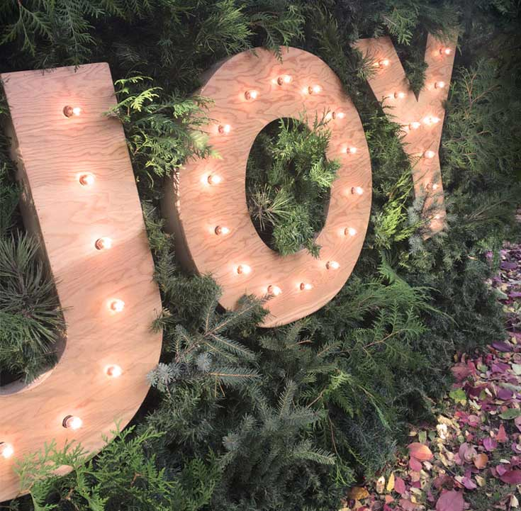 Faux Living Wall - Christmas JOY