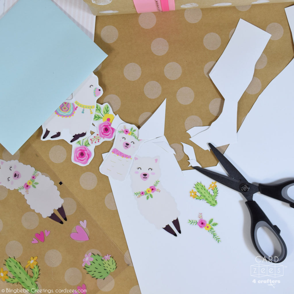 Stick to card stock before cutting out