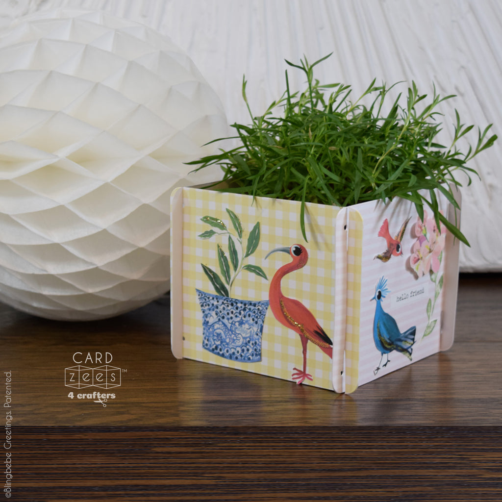 CARDzees can be rearranged as a square, makes a sweet little wrap around gifts.