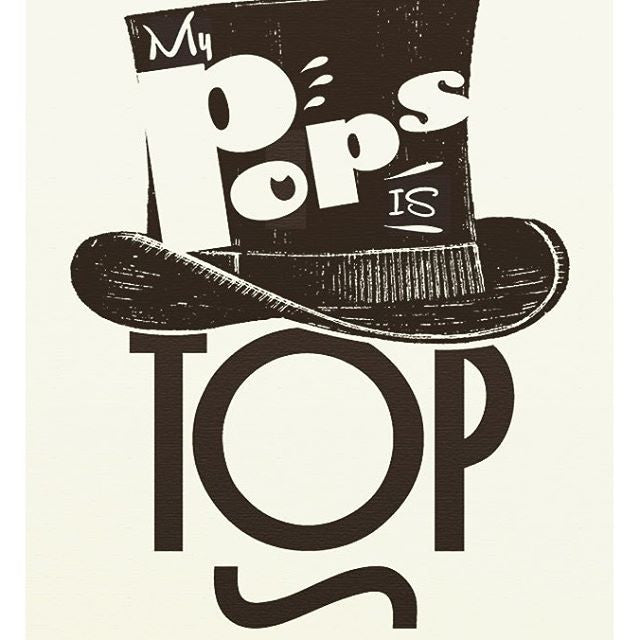 My Pops is Tops! - blingbebe shop ::: greetings that shine