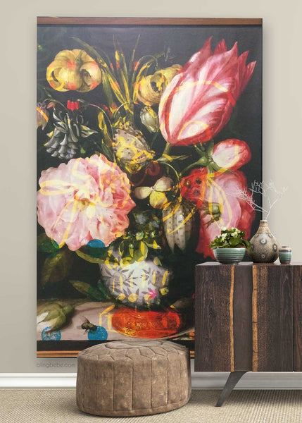 Canvas Baroque Floral 4 x 6'
