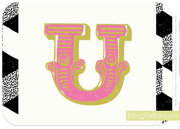 Letter U - style 2