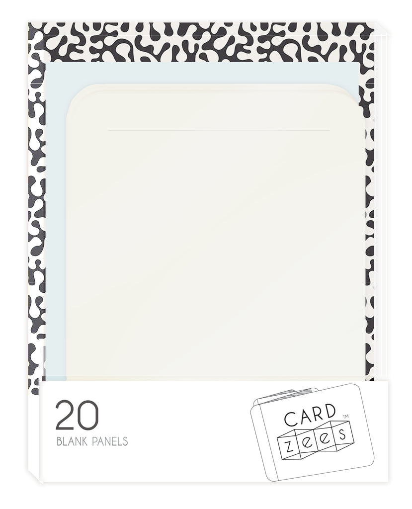 DIY CARDzees - 20 Blank Panels for Crafters