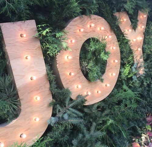 JOY light up sign XXL Rental