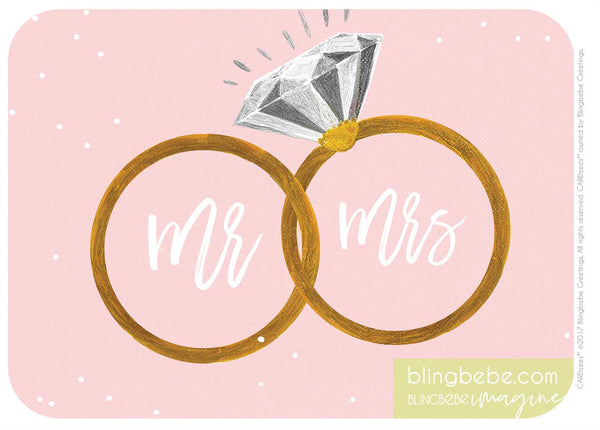Mr & Mrs - RINGS - CARDzees™ single