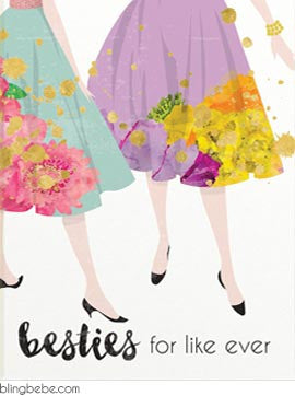 Besties for like ever - blingbebe shop ::: greetings that shine
