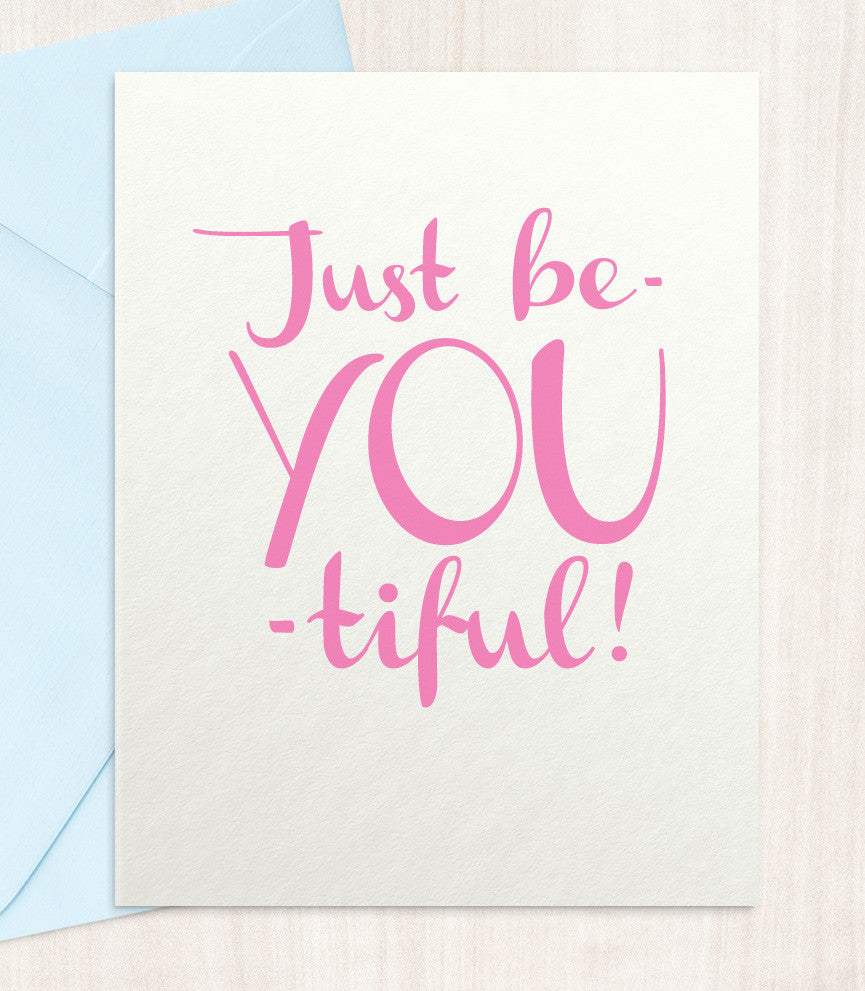 Just BeYOUtiful Greeting Card (BY39) - blingbebe shop ::: greetings that shine