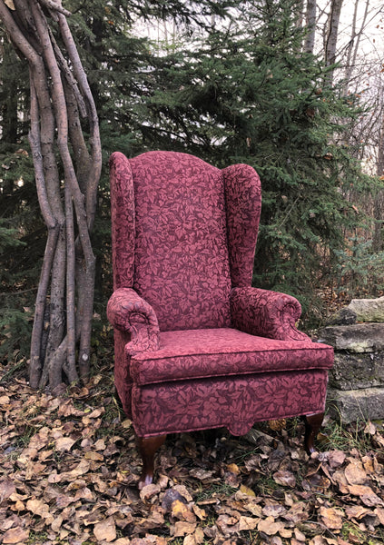 Burgundy Wing Chair Rental