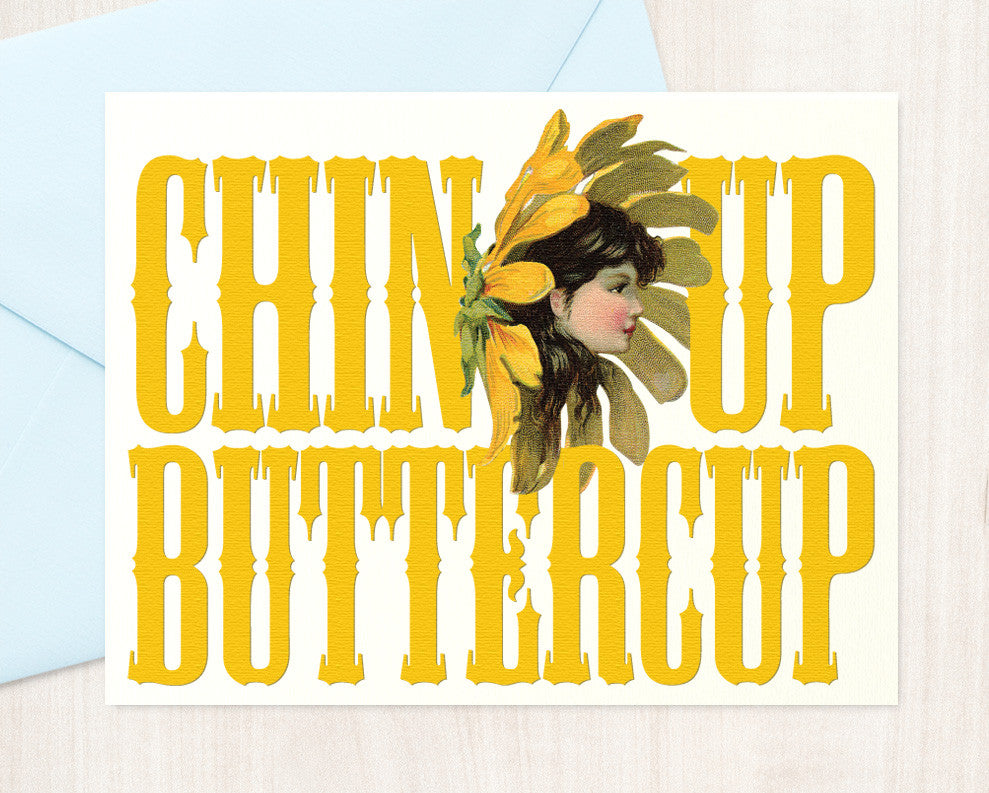 Chin-up Buttercup - blingbebe shop ::: greetings that shine
