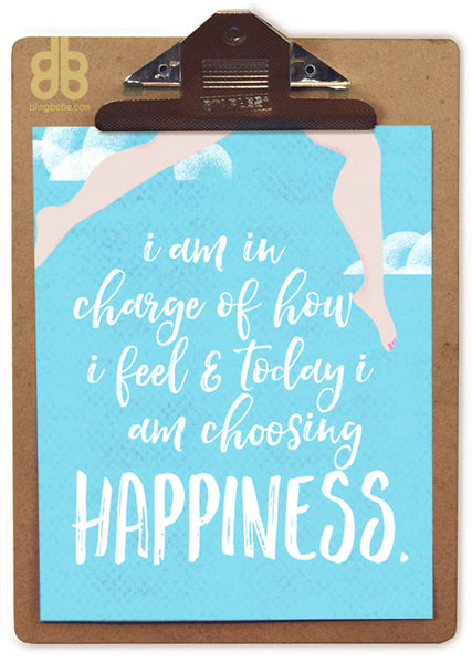 Today I Choose Happiness - blingbebe shop ::: greetings that shine