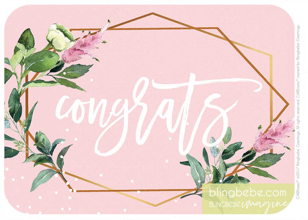 CONGRATS-pink-bridal - CARDzees™ single