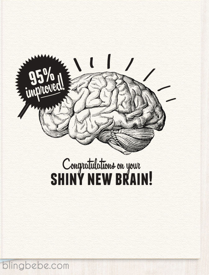 Shiny New Brain Congratulations - blingbebe shop ::: greetings that shine  - 1