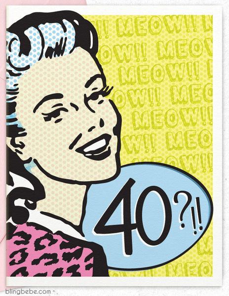 Cougar? 40?! - funny birthday card - blingbebe ::: greetings that shine