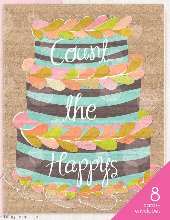 Count the Happys Box Set 8 - blingbebe shop ::: greetings that shine