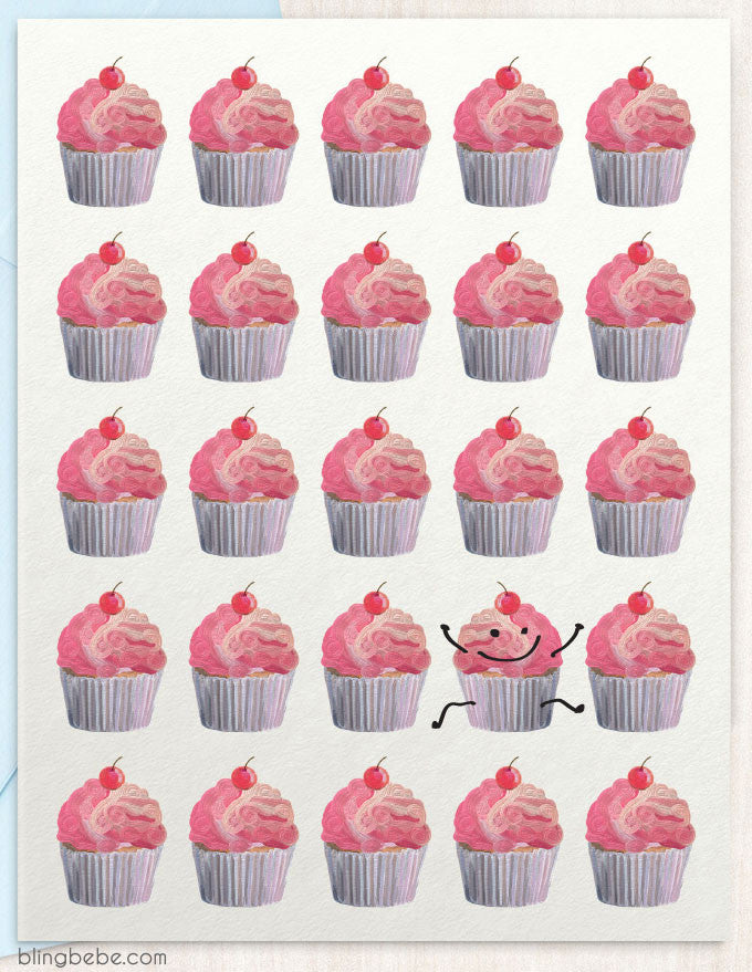 Cupcakes Galore - blingbebe shop ::: greetings that shine  - 1