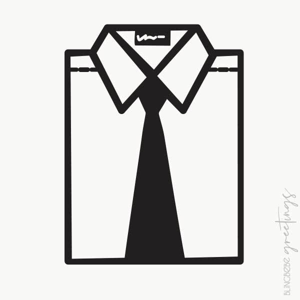 Dress Shirt - Cut Paper Illustration