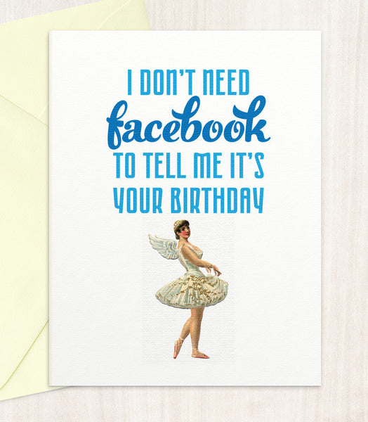 I Don't Need Facebook (FB07) - blingbebe shop ::: greetings that shine  - 1