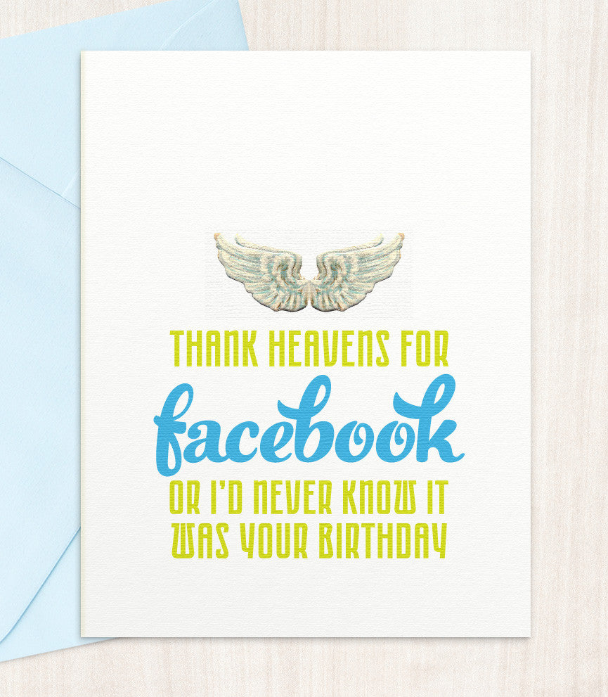 Thank Heavens for Facebook (HF62) - blingbebe shop ::: greetings that shine  - 1
