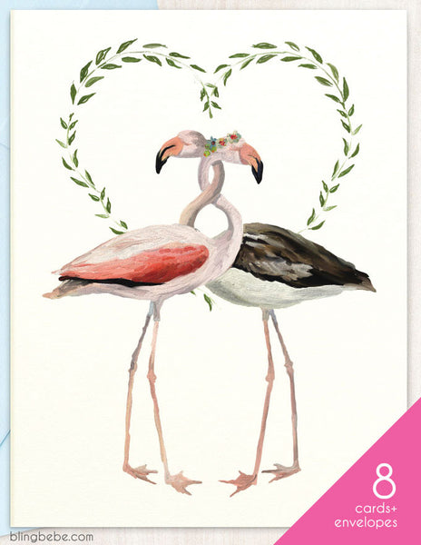 Flamingo Love Box Set - blingbebe shop ::: greetings that shine
