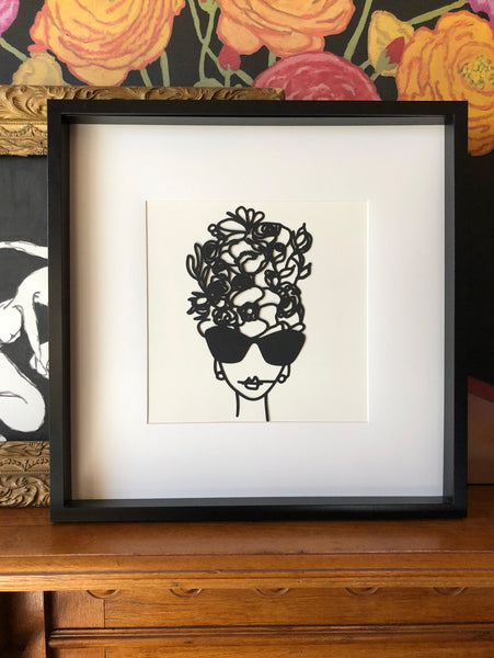 Flowerhead Shades - Cut Paper Illustration
