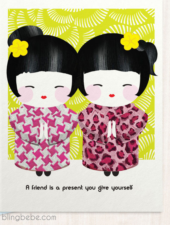 A Friend Is A Present - blingbebe shop ::: greetings that shine