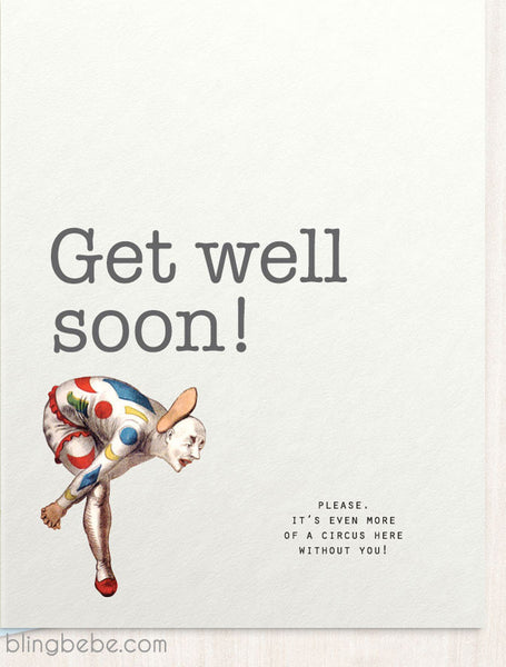 Get Well Soon - Circus - blingbebe shop ::: greetings that shine  - 1