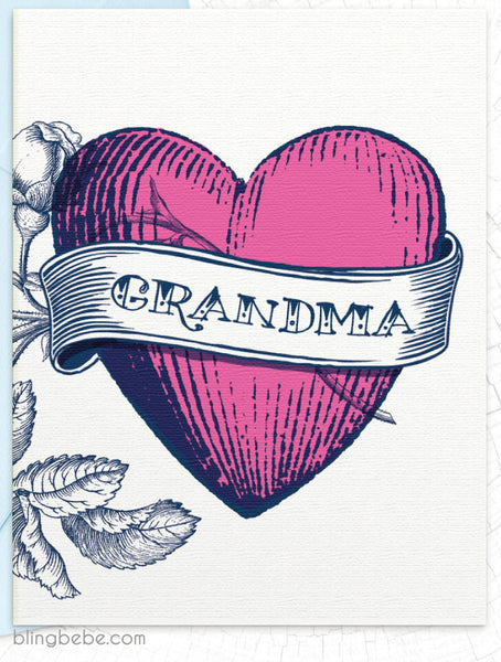 Grandma Tattoo - blingbebe shop ::: greetings that shine  - 1