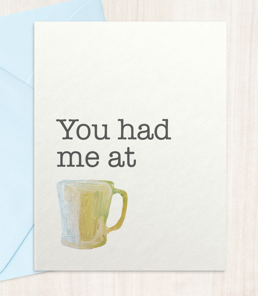 You Had Me At Coffee (CO89) - blingbebe shop ::: greetings that shine  - 1
