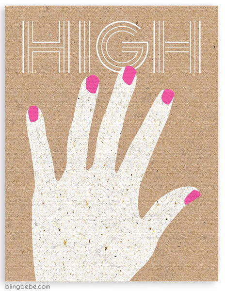 High Five - blingbebe shop ::: greetings that shine