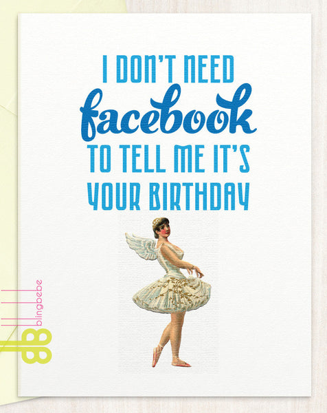 I Don't Need Facebook - blingbebe shop ::: greetings that shine  - 1