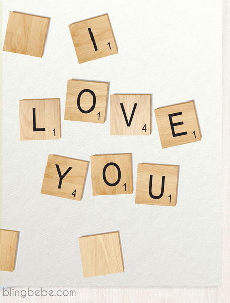 I Love You Game Tiles - blingbebe shop ::: greetings that shine  - 1