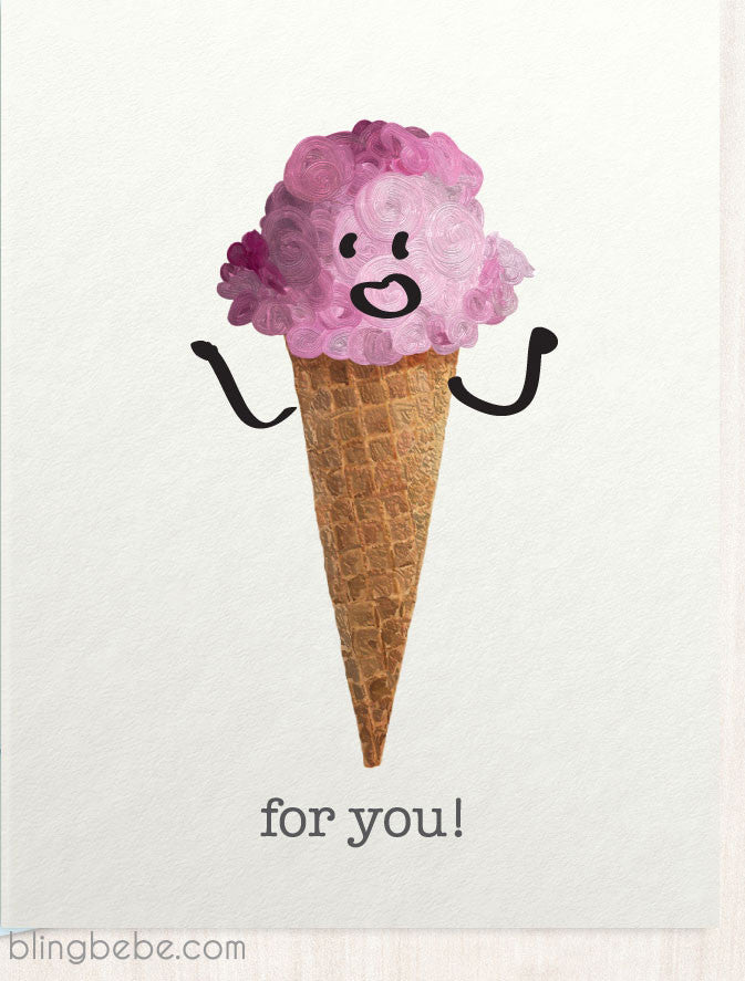 Ice Cream For You - blingbebe ::: greetings that shine - 2