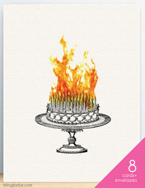 Inferno Birthday Cake Box Set of 8