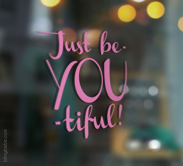 Just beYOUtiful Mirror Decal - blingbebe ::: greetings that shine - 2