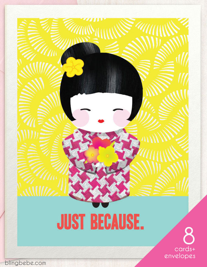 Just Because - greeting card by blingbebe.com ::: greetings that shine
