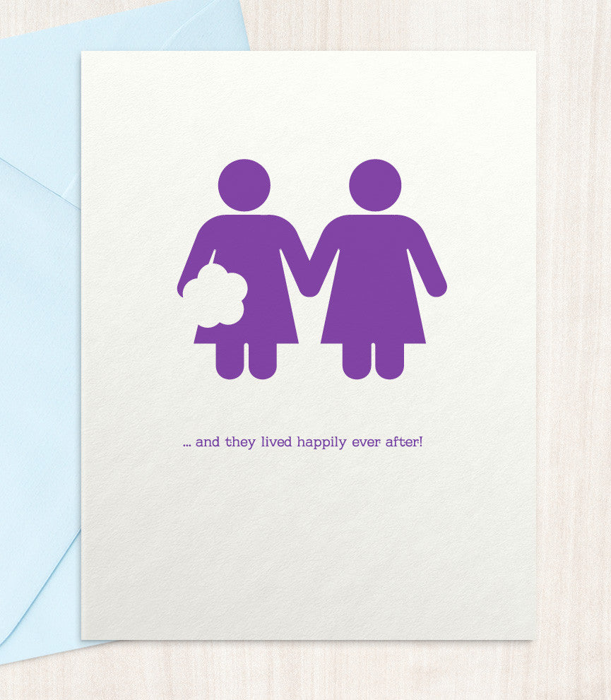 Same Sex Marriage - Lesbian (LW33) - blingbebe shop ::: greetings that shine