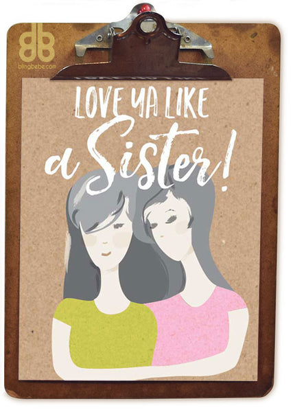 Like a Sister Print - blingbebe shop ::: greetings that shine
