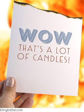 WOW that's a lot of candles - blingbebe shop ::: greetings that shine