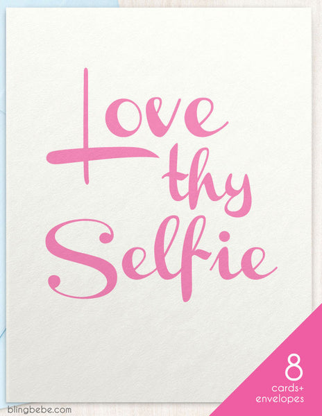 Love Thy Selfie Box Set 8 - blingbebe shop ::: greetings that shine