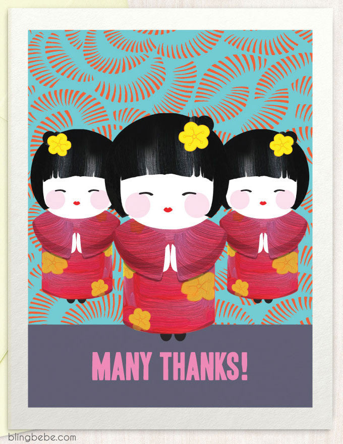 Many Thanks - blingbebe shop ::: greetings that shine