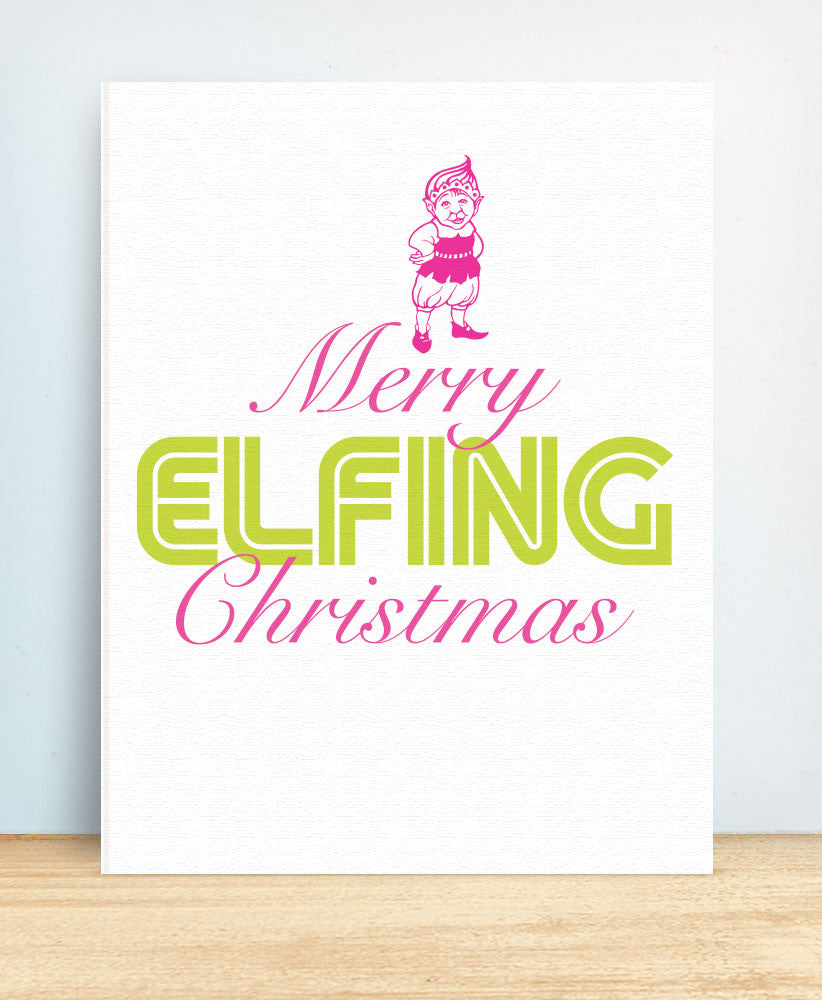 Merry Elfin Christmas (EC25) - blingbebe shop ::: greetings that shine